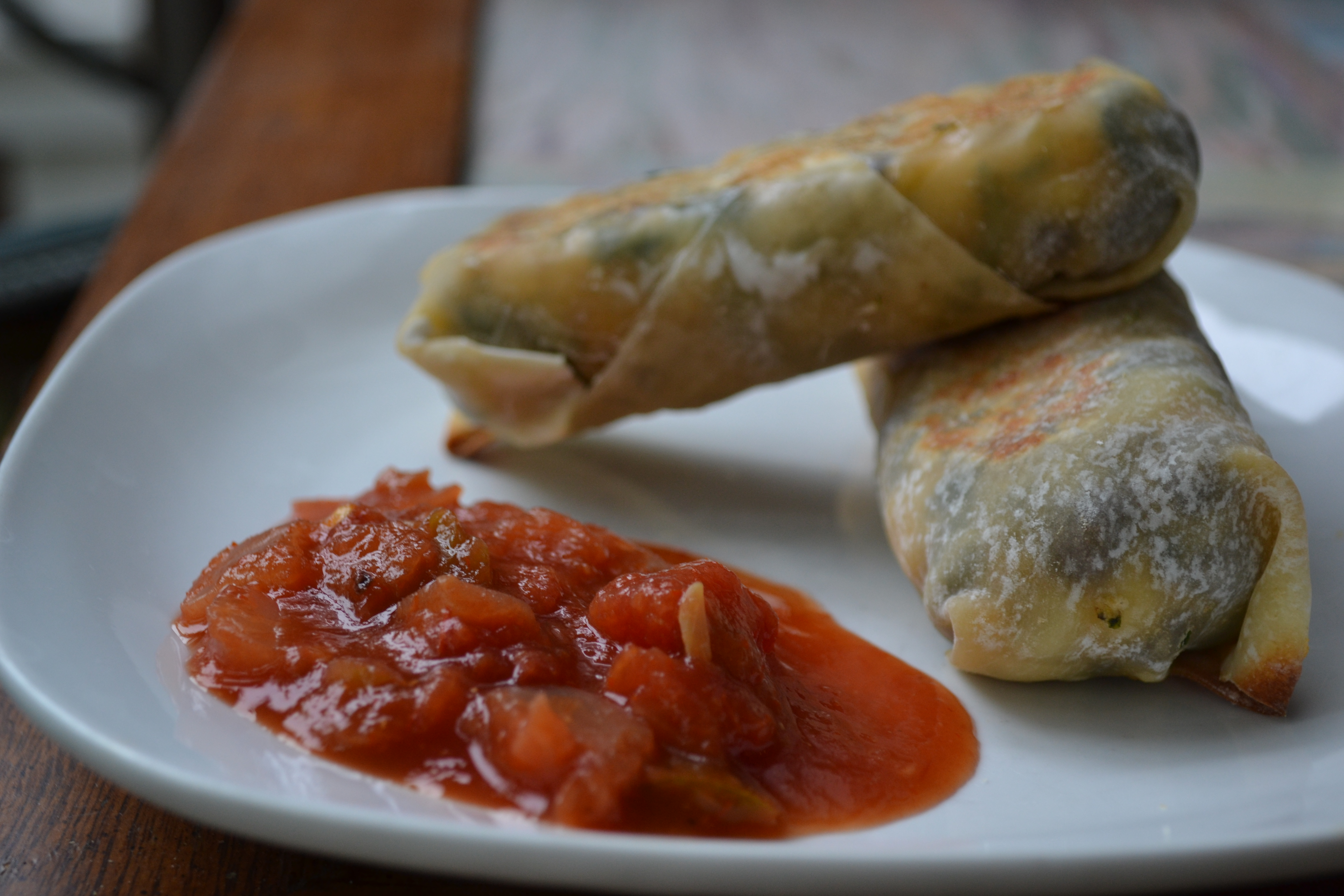Southwestern Egg Rolls | a rented kitchen
