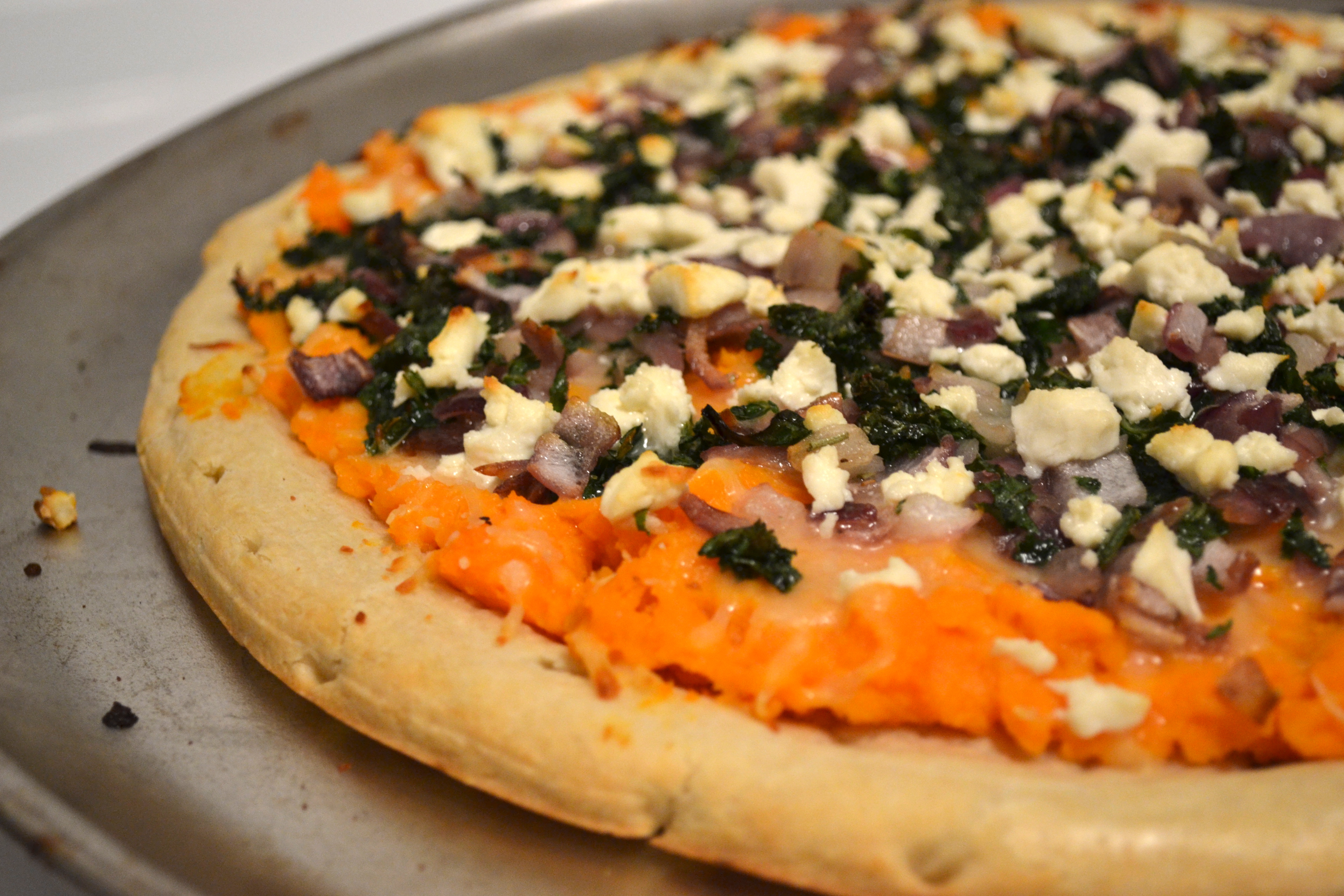 Sweet Potato Pizza with Caramelized Onion, Goat Cheese ...