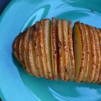 Garlic Hassleback Potatoes