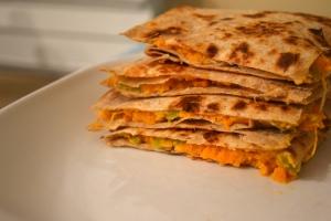 10). Sweet Potato and Goat Cheese Quesadillas