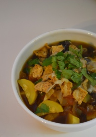 Black Bean Fajita Soup