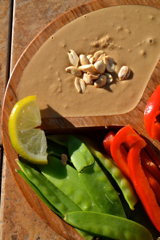 Thai Peanut Vegetable Dip