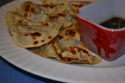 Tempeh Potstickers with Sesame Soy Dipping Sauce