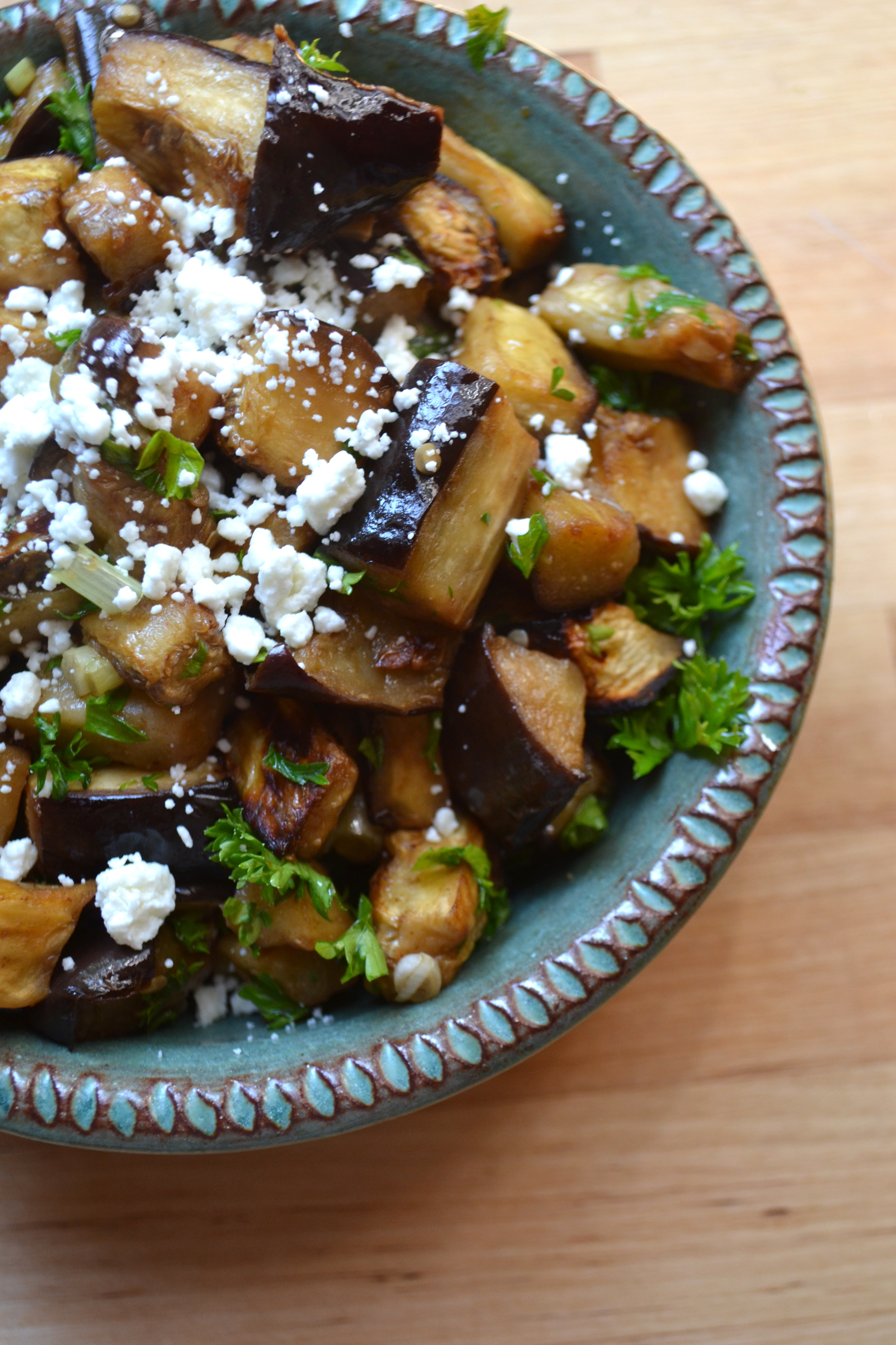 Roasted Eggplant Salad With Smoked Almonds & Goat Cheese ...