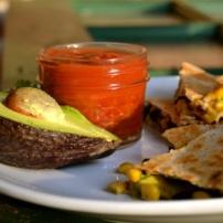 Spiced Black Beans, Corn, and Avocado Quesadillas