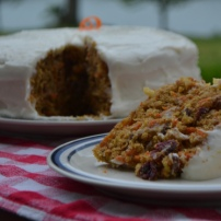 Apple Carrot Cake with Cream Cheese Frosting