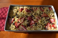 Baked Fruit and Chocolate Oatmeal