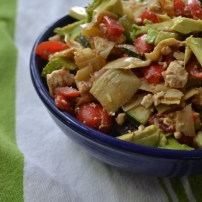 Greek Vegetable Salad with Lemon Balsamic Dressing