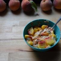 Healthy Peach Cobbler Oatmeal