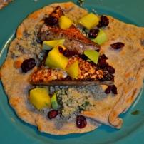 Chipotle Tofu Tacos with Cilantro Quinoa and Mango