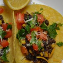 Spiced Black Bean and Corn Tacos