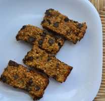 Gluten Free Pumpkin Chocolate Chip Granola Bars