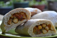 Baked Chana Masala Flatbread Pockets
