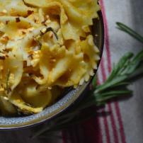 Creamy Pumpkin Pasta with Roasted Rosemary