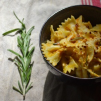 Pumpkin Pasta with Roasted Rosemary