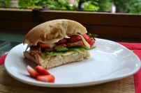 Tangy Strawberry Tempeh Balsamic Sandwich