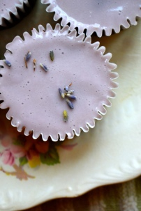 Flourless Chocolate Lavender Cupcakes