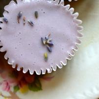 Flourless Chocolate Lavender Cupcakes