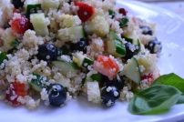 Fresh Fruit Quinoa Salad with Lemon Basil Dressing