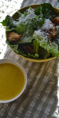 Caesar Salad with Homemade Croutons and Citrus Dressing