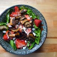 Balsamic Mushroom and Fruit Summer Salad