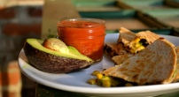 Spiced Black Bean, Corn, and Avocado Quesadillas