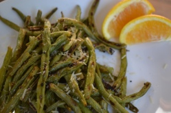 Orange and Garlic Roasted Green Beans