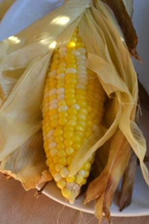 Oven-Roasted Corn in the Husk