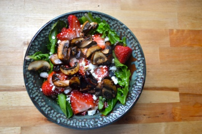 Balsamic Mushroom and Fruit Summer Salad