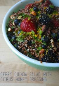 Berry Quinoa Salad with Citrus Honey Dressing