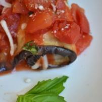 Mozzarella and Basil Stuffed Eggplant Slices