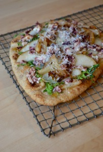 Fig, Arugula and Goat Cheese Pizza with Balsamic Caramelized Onions