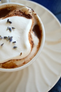 Lavender Hot Chocolate with Homemade Whipped Cream